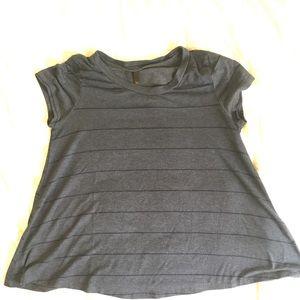 Tilly's dark gray striped shirt